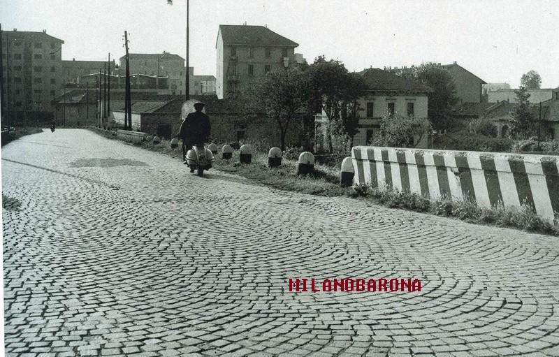 Bovisa, presumibilmente fine anni '50. Ponte Lambruschini. (web: milano.biblioteche)