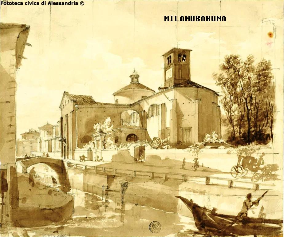 Il Naviglio di San Marco di Giovanni Migliara (compreso tra il 1800, anteriore al 1837). fonte immagine: daldisegnoalclick.wordpress.com