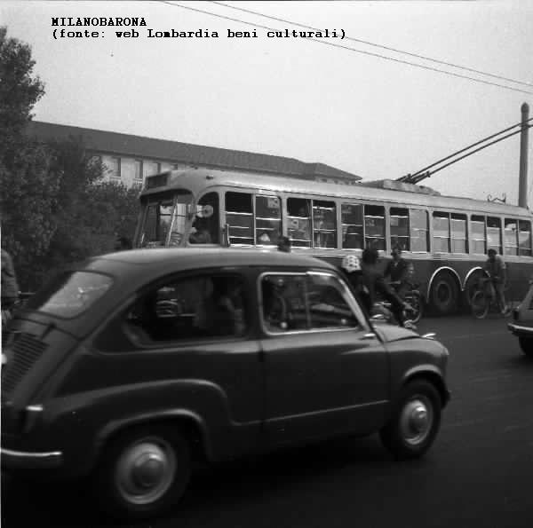 Ponte Adriano Bacula (ponte della Ghisolfa) 1960 circa (fonte immagine Lombardia beni culturali)