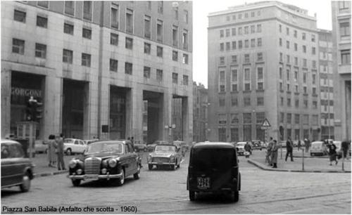 Piazza San Babila 1960 circa. (fonte web obiettivo digitale)