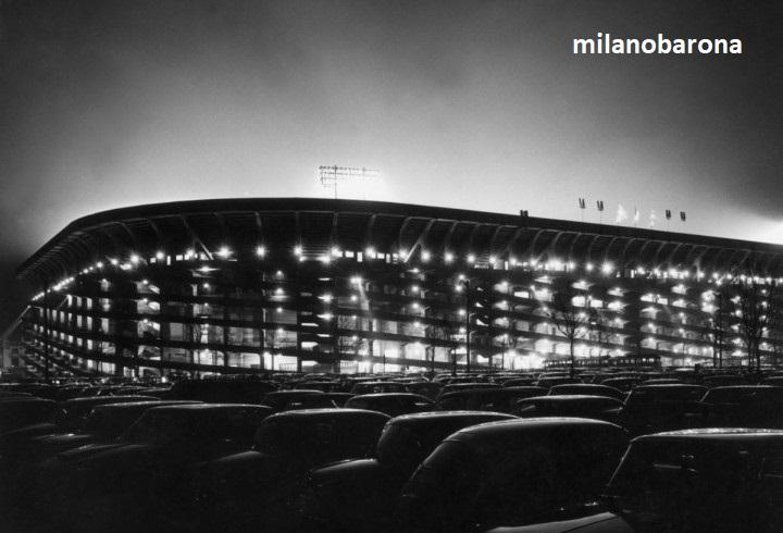 Stadio Meazza nel 1965, visione notturna (cultweek)