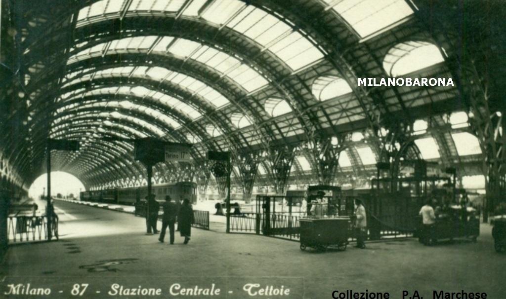 Stazione Centale 1932 circa. (fonte immagine: web portaledeitreni)
