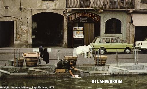 Ticinese 1976. Naviglio Pavese Via Ascanio Sforza. Trattoria Briosca.