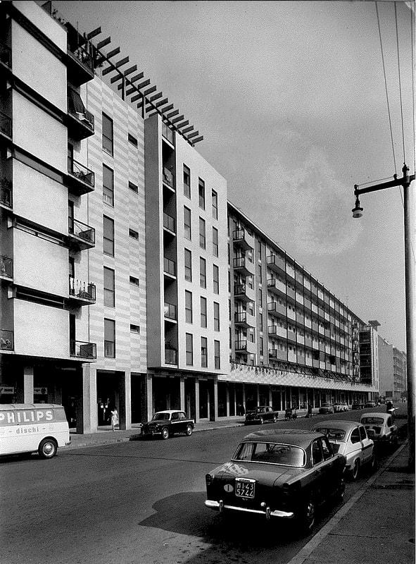 Milano Cimiano anni '60. Via Derna.