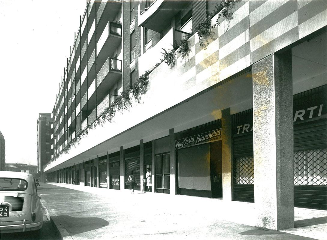 Milano Cimiano anni '60. Via Derna (la palazzina ritratta risale ad un progetto di Ivo Chierici (fonte web allabarbaresca)