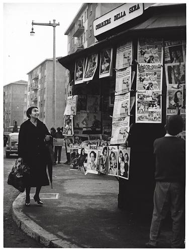 Cimiano-Crescenzago verso Lambrate. 1960, fotogramma del film Rocco e i suoi fratelli (regia Luchino Visconti), Via Monfalcone angolo Via Marazzani. (fonte web giovanniraspini)