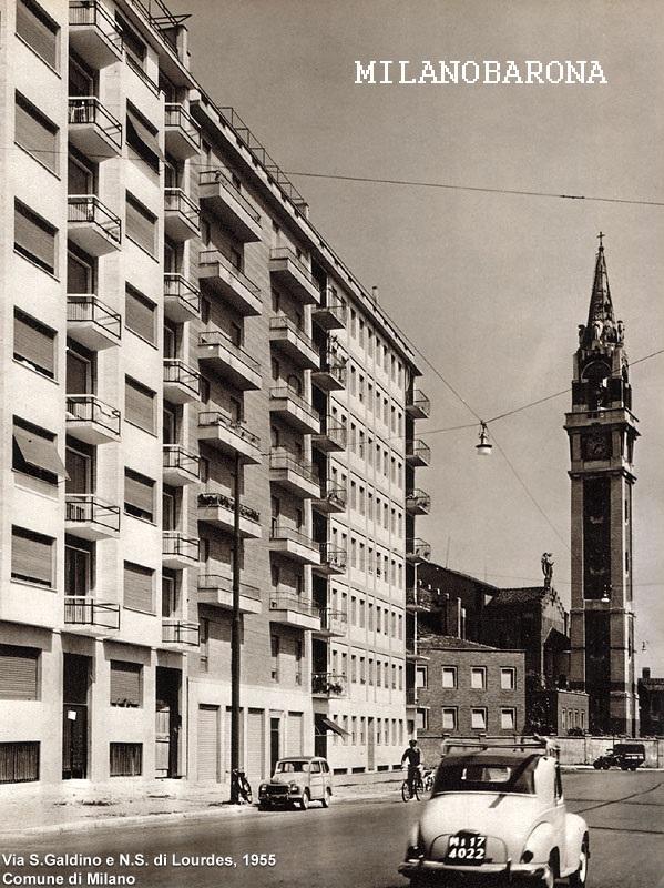 Milano 1955. Tra Sempione e Monumentale, Via San Galdino. (fonte immagine stagniweb)