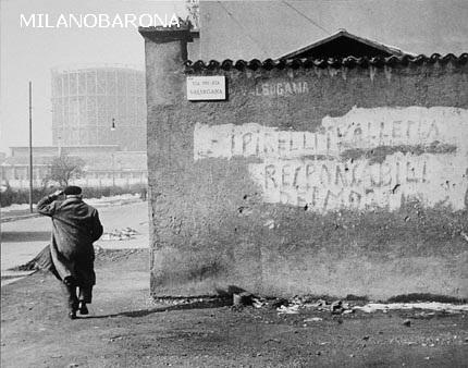 Porta Romana 1960 circa- Via Valsugana. Autore Mario Carrieri, fonte immagine web hay hill gallery