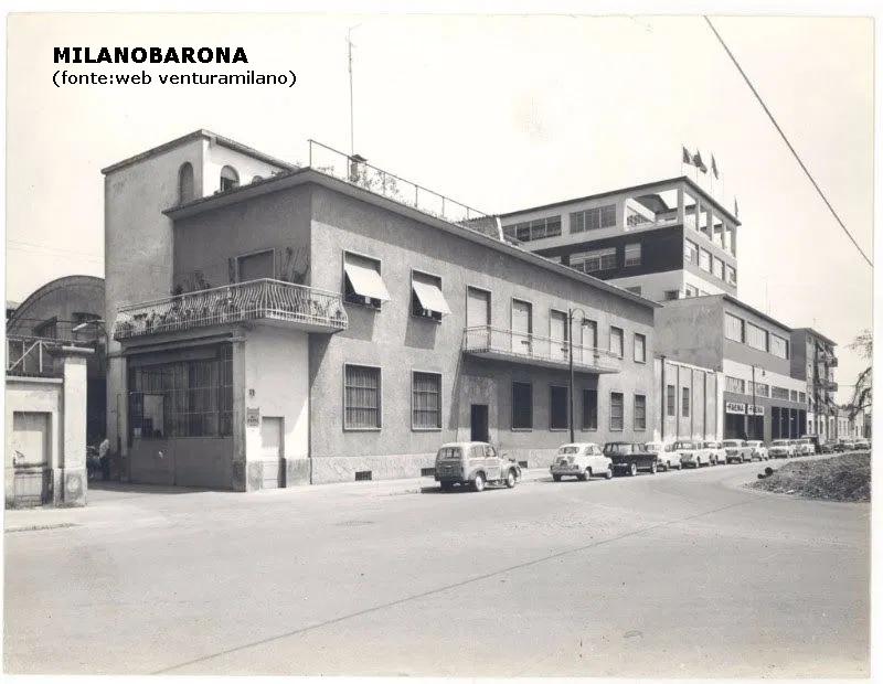 Lambrate 1960 circa. Via Giovanni Ventura.