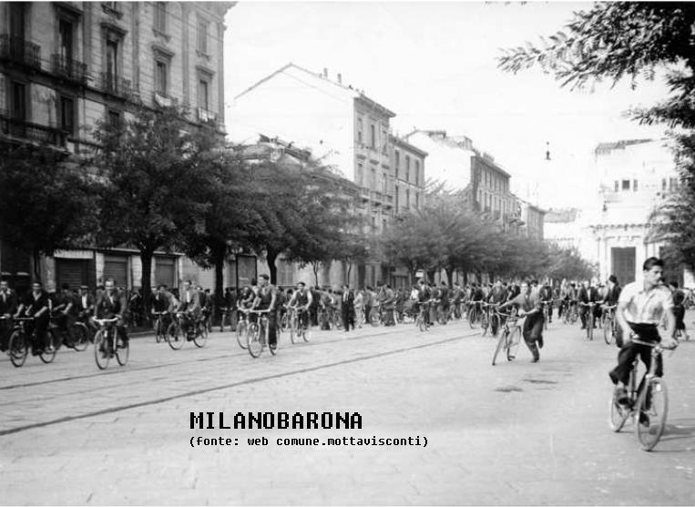 Via Vittor Pisani nell'immediato dopoguerra.