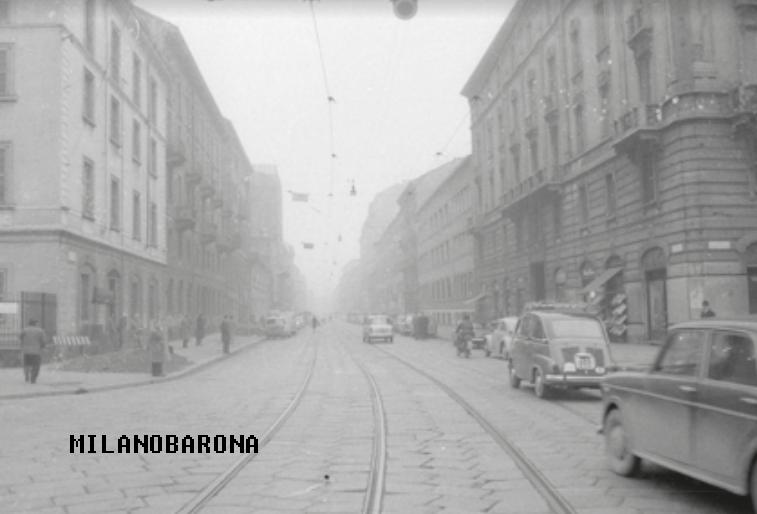 Tra Porta Ticinese e Romana, Viale Bligny nel 1964. (fonte: apice.unimi)