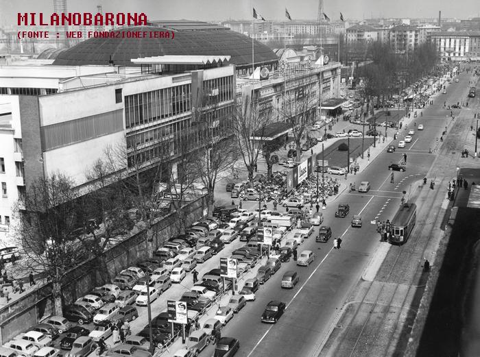 Fiera Campionaria 1958, Viale Cassiodoro e Viale Boezio (fonte immagine: web fondazionefieramilano)