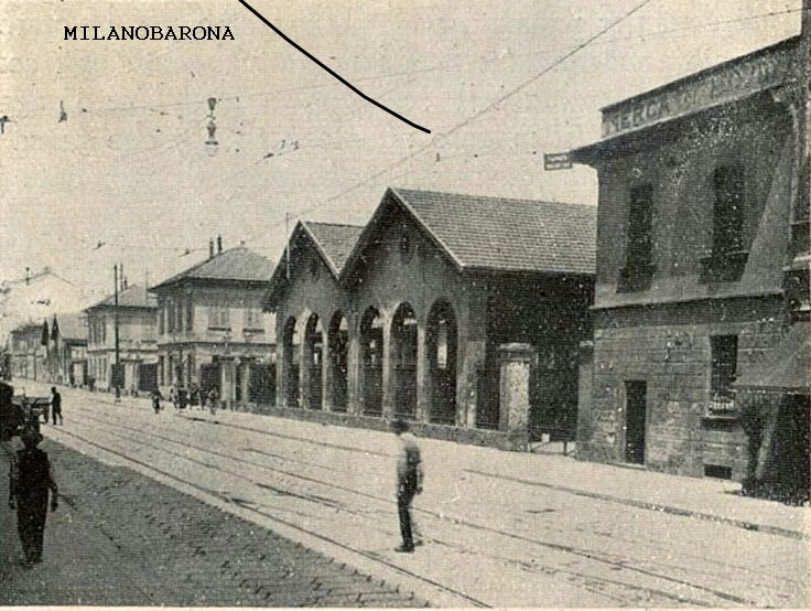 Milano (non superiore al secondo decennio del '900), Viale Coni Zugna ed il Mercato del bestiame.