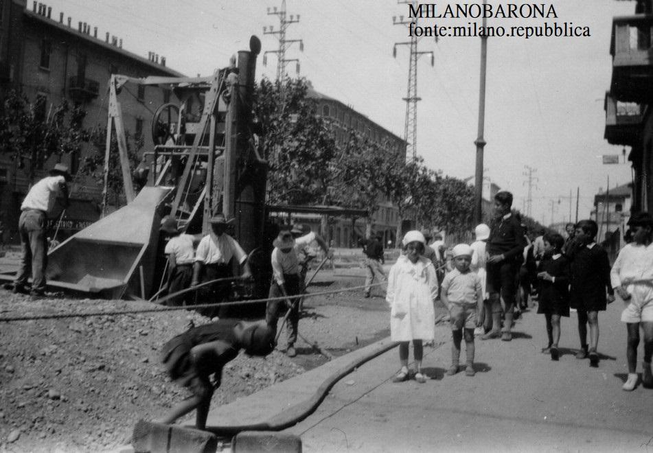 Milano 1934, Porta Romana. Viale Umbria. (fonte:milano.repubblica)