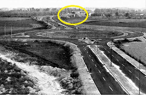 Rondo' Maggi, pochi mesi prima dell'apertura della A7 Milano Serravalle.
