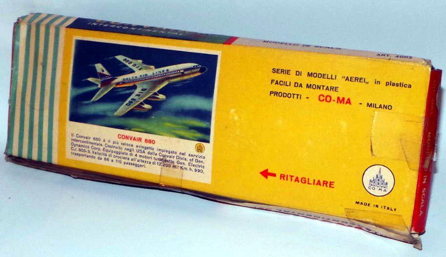Scatola di assemblaggio modellino in scala Jet Intercontinentale Convair 880 in esercizio presso la Delta Airlaines
